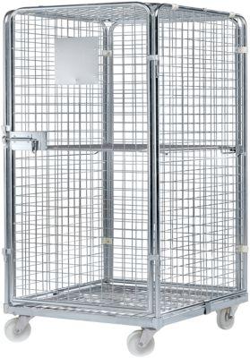 Rollbehälter, mit Stahlrollplatte, 724 x 815 x 1210 mm