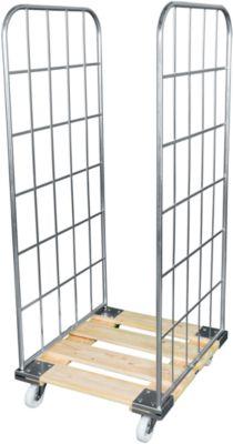 Rollbox, 2-seitig, mit Holzrollplatte, 1640 mm Nutzhöhe