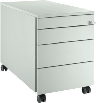 Rollcontainer 1233, 4 Schubladen, lichtgrau/lichtgrau/lichtgrau