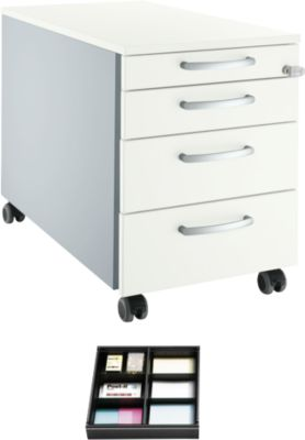 Rollcontainer 1233 + Schubladenset GRATIS, weiß