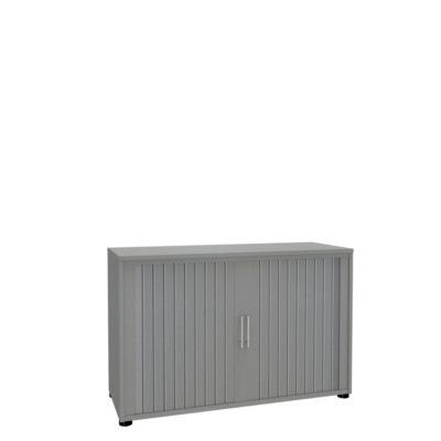 Rollladenschrank, 2 OH, 1teilig, ohne Mitteltrennwand, B 1200 mm, silber