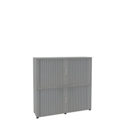 Rollladenschrank, 4 OH, 2teilig, mit Mitteltrennwand, B 1600 mm, silber