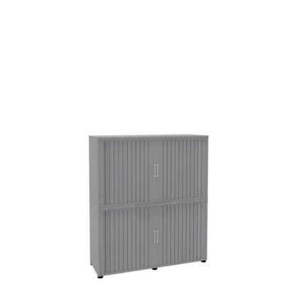 Rollladenschrank, 4 OH, 2teilig, ohne Mitteltrennwand, B 1350 mm, silber