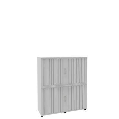 Rollladenschrank, 4 OH, 2teilig, ohne Mitteltrennwand, B 1350 mm, weiß