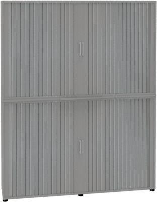 Rollladenschrank, 6 OH, 2teilig, mit Mitteltrennwand, B 1800 mm, silber