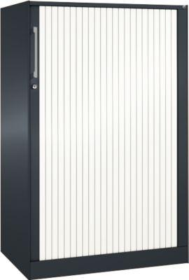 Rollladenschrank ASISTO C 3000, 3 Ordnerhöhen, B 800 mm, anthrazit/weiß