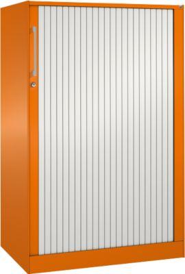 Rollladenschrank ASISTO C 3000, 3 Ordnerhöhen, B 800 mm, orange/weiß