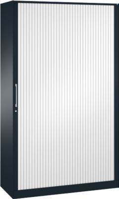 Rollladenschrank ASISTO C 3000, 5 Ordnerhöhen, B 1200 mm, anthrazit/weiß