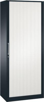 Rollladenschrank ASISTO C 3000, 5 Ordnerhöhen, B 800 mm, anthrazit/weiß