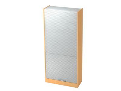 Rollladenschrank TARVIS, abschließbar, 5 Ordnerhöhen, B 900 x T 400 x H 2004 mm, lichtgrau/lichtgrau