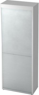 Rollladenschrank TOPAS LINE, vertikal, 6 Ordnerhöhen, lichtgrau