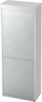 Rollladenschrank TOPAS LINE, vertikal, 6 Ordnerhöhen, weiß