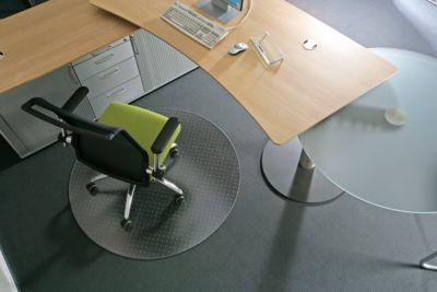 Rollsafe vloerbeschermingsmat, vorm C, Ø 120 cm