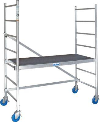 RollTec aluminium steiger, werkplatform 1,5 x 0,6 m