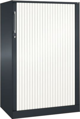 Rolluikkast ASISTO C 3000, 3 ordnerhoogtes, B 800 mm, antraciet/wit, 3 ordnerhoogten