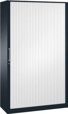 Rolluikkast ASISTO C 3000, 5 ordnerhoogtes, B 1200 mm, antraciet/wit, 5 ordnerhoogtes, B 1200 mm, antraciet/wit