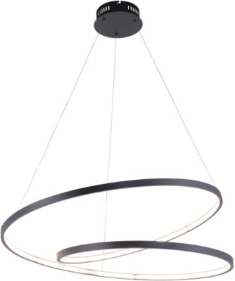 ROMAN led pendellamp, zwart, lichtkleur warm wit, 40W, 4500 lm, B 720 x D 720 mm