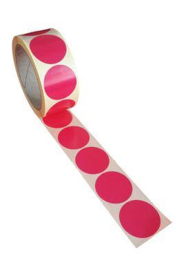 Ronde etiketten, ø 40 mm, 500 stuks, roze