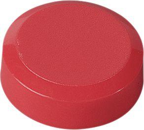 Ronde magneten, Ø 20 x 7,5 mm, rood, pak van 20 stuks