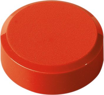 Ronde magneten, Ø 30 x 10,5 mm, rood, pak van 20 stuks