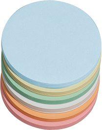 Ronde pres.kaarten, ø 95 mm, diverse kleuren, 250 stuks