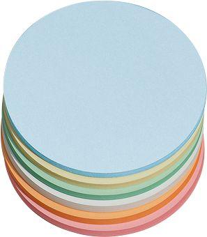 Ronde presentatiekaarten, ø 140 mm, div. kleuren, 250 stuks