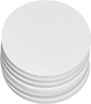 Ronde presentatiekaarten, ø 140 mm, wit, 250 st.