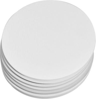 Ronde presentatiekaarten, ø 195 mm, wit, 250 st.