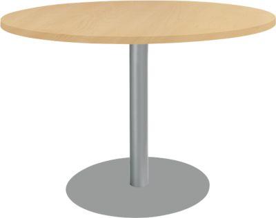 Ronde tafel met ronde voet, Ø 1200 mm, H 617 - 817 mm, beukendecor