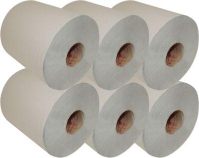 Rouleaux de papier essuie-mains multi usages, 1 épaisseur, 280 m, gris, 6 rouleaux