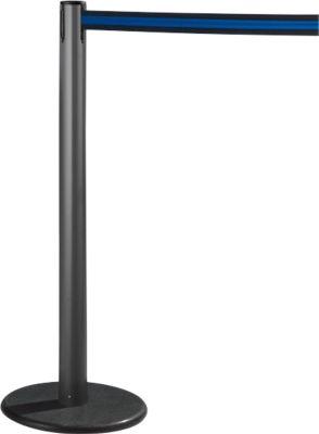 RS-GUIDESYSTEMS® Gurtpfosten GLA 28, anthrazit, Gurt schwarz/blau