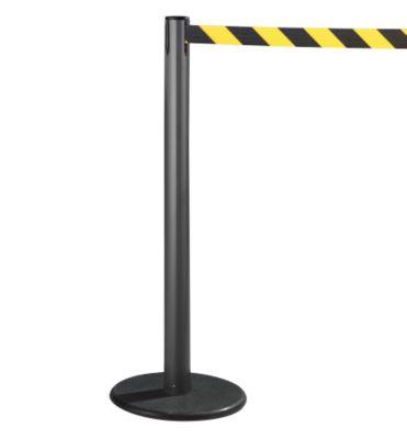 RS-GUIDESYSTEMS® Gurtpfosten GLA 28, anthrazit, Gurt schwarz/gelb