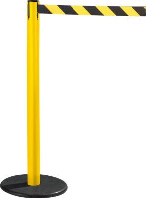 RS-GUIDESYSTEMS® Gurtpfosten GLA 28, gelb, Gurt schwarz/gelb