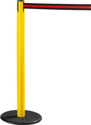 RS-GUIDESYSTEMS® Gurtpfosten GLA 28, gelb, Gurt schwarz/rot