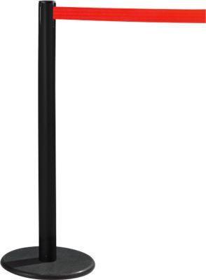 RS-GUIDESYSTEMS® Gurtpfosten GLA 28, schwarz, Gurt rot