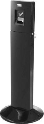Rubbermaid Standascher Metropolitan, Aluminium, mit 6 L Inneneimer, für Außenbereich, schwarz