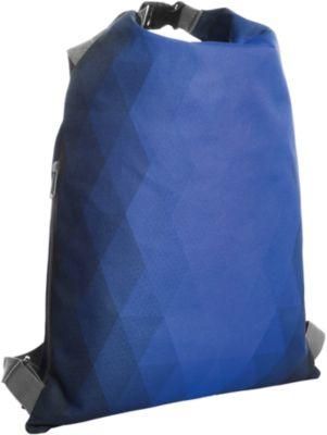 Rucksack DIAMOND, beidseitig tragbar, 350 x 500 mm, WAB 230 x 250 mm, blau