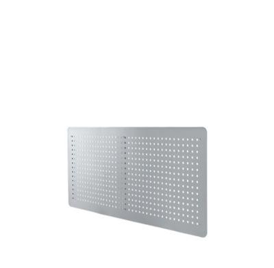 Rückseitenblende, 1200 mm breit, für Schreibtische, weißalu