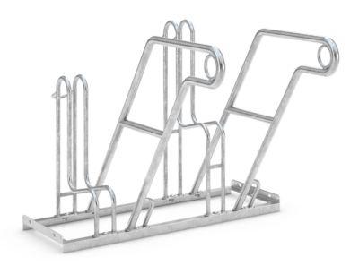 Rugleuningparker WSM, 1-zijdig, voor banden tot B 55 mm, B 1000 x D 390 x H 800 mm, B 1000 x D 390 x H 800 mm, gegalvaniseerd staal, 2 parkeerplaatsen