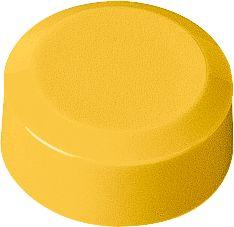 Rundmagnete, ø 13 x 5 mm, gelb, 20 Stück