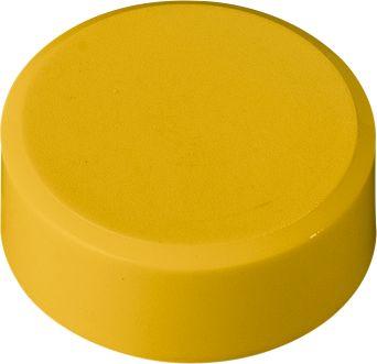 Rundmagnete, ø 38 x 11 mm, gelb, 20 Stück