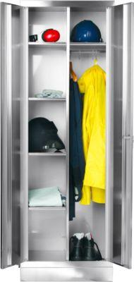 RVS locker, b 600 x 500 x h 1800 mm, met sokkel