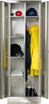 RVS locker, b 800 x d 500 x h 1800 mm, met sokkel