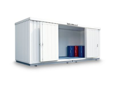 SAFE Tank STI 1900 isoliert, 6080 x 2170 mm, für aktive/passive Lagerung entzündbarer Stoffe