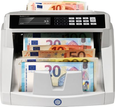 Safescan 2465-S bankbiljettenteller en verificateur, volledig automatische waarde- en stukteller