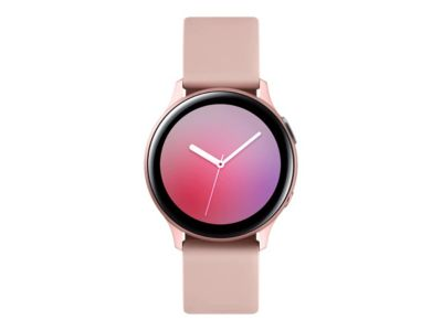 Samsung Galaxy Watch Active 2 - Pink Gold Aluminium - intelligente Uhr mit Band - Rotgold - 4 GB
