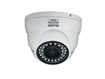 Santec Kuppelkamera HD SCC 241KEIM, Tag-und Nacht-Domekamera, Reichweite bis 30 m