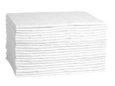 Saugkissen FIRST, besonders ölbindend, B 300 x L 400 mm, für 40 l, 1-lagig, 20 Stück, weiß