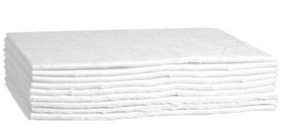 Saugkissen FIRST, besonders ölbindend, B 500 x L 800 mm, für 67 l, 1-lagig, 10 Stück, weiß