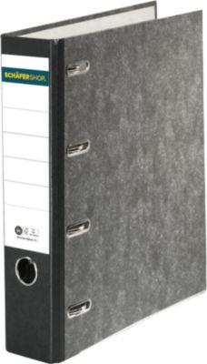 SCHÄFER SHOP Dubbele ordner, A4 (voor 2 x A5 documenten), 80 mm, karton, wolkenmarmer